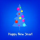 Tarjeta de felicitación de la Navidad y del Año Nuevo Fotografía de archivo libre de regalías