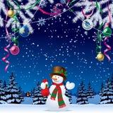 Tarjeta de felicitación de la Navidad y del Año Nuevo ilustración del vector