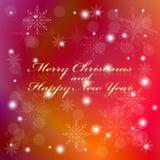 Tarjeta de felicitación de la Navidad y del Año Nuevo, eps10 Imágenes de archivo libres de regalías