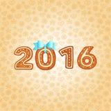 Tarjeta de felicitación de la Navidad y del Año Nuevo gingerbread Ilustración del Vector