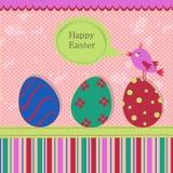 Tarjeta de felicitación de la plantilla de Pascua Fotografía de archivo