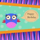 Tarjeta de felicitación de la plantilla del cumpleaños Fotos de archivo