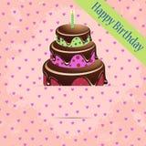 Tarjeta de felicitación de la plantilla del cumpleaños Fotos de archivo libres de regalías