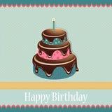 Tarjeta de felicitación de la plantilla del cumpleaños Imagen de archivo libre de regalías
