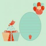 Tarjeta de felicitación de la plantilla del cumpleaños Foto de archivo libre de regalías