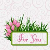 Tarjeta de felicitación de la plantilla para usted stock de ilustración