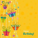 Tarjeta de felicitación de la plantilla, vector Fotografía de archivo libre de regalías