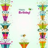 Tarjeta de felicitación de la plantilla, vector Fotos de archivo libres de regalías