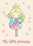 Tarjeta de felicitación de la princesa del cuento de hadas Fotografía de archivo libre de regalías