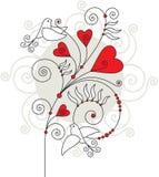 Tarjeta de felicitación de la tarjeta del día de San Valentín 04 Imagen de archivo libre de regalías
