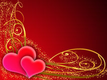 Tarjeta de felicitación de la tarjeta del día de San Valentín ilustración del vector