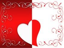 Tarjeta de felicitación de la tarjeta del día de San Valentín libre illustration