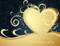 Tarjeta de felicitación de la tarjeta del día de San Valentín Fotografía de archivo