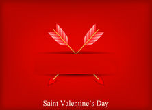 tarjeta de felicitación de la tarjeta del día de San Valentín Fotografía de archivo libre de regalías