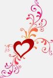 Tarjeta de felicitación de la tarjeta del día de San Valentín con el corazón Foto de archivo libre de regalías