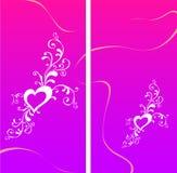Tarjeta de felicitación de la tarjeta del día de San Valentín con el corazón Fotos de archivo