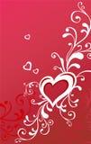 Tarjeta de felicitación de la tarjeta del día de San Valentín con el corazón Fotografía de archivo libre de regalías