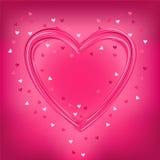 Tarjeta de felicitación de la tarjeta del día de San Valentín con el corazón del amor, vector Imágenes de archivo libres de regalías