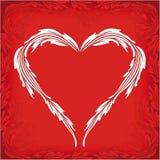 Tarjeta de felicitación de la tarjeta del día de San Valentín con el corazón y los florals Foto de archivo libre de regalías