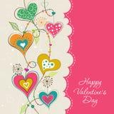 Tarjeta de felicitación de la tarjeta del día de San Valentín de la plantilla, vector Fotografía de archivo libre de regalías