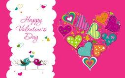 Tarjeta de felicitación de la tarjeta del día de San Valentín de la plantilla, vector Imágenes de archivo libres de regalías