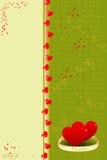 Tarjeta de felicitación de la tarjeta del día de San Valentín del modelo Fotografía de archivo libre de regalías