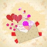 Tarjeta de felicitación de la tarjeta del día de San Valentín del modelo Foto de archivo libre de regalías