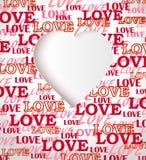 Tarjeta de felicitación de la textura del amor Fotos de archivo