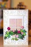 Tarjeta de felicitación de la vendimia Imagen de archivo libre de regalías