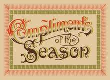 Tarjeta de felicitación de la vendimia (vector) Fotos de archivo