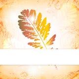 Tarjeta de felicitación de las hojas de otoño stock de ilustración