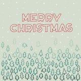 Tarjeta de felicitación de las letras de la mano de la Feliz Navidad Fotografía de archivo libre de regalías