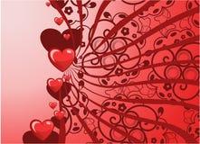Tarjeta de felicitación de las tarjetas del día de San Valentín Fotografía de archivo