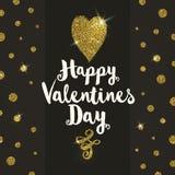 Tarjeta de felicitación de las tarjetas del día de San Valentín ilustración del vector