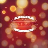 Tarjeta de felicitación de las tarjetas del día de San Valentín con el fondo abstracto Imagen de archivo libre de regalías