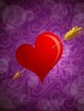 Tarjeta de felicitación de las tarjetas del día de San Valentín del St Fotografía de archivo