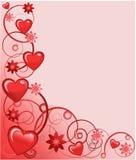 Tarjeta de felicitación de las tarjetas del día de San Valentín, ilustración del vector Fotografía de archivo