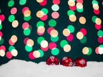 Tarjeta de felicitación de los globos de la Navidad Imagenes de archivo