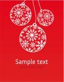 Tarjeta de felicitación de Navidad Fotos de archivo