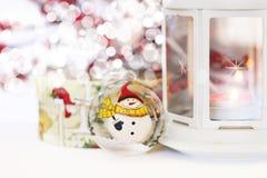 Tarjeta de felicitación de Navidad Fotografía de archivo