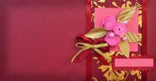Tarjeta de felicitación de papel imágenes de archivo libres de regalías