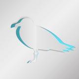 Tarjeta de felicitación de papel de la gaviota Imagen de archivo