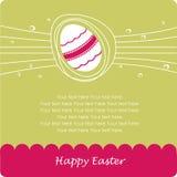 Tarjeta de felicitación de Pascua stock de ilustración