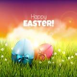 Tarjeta de felicitación de Pascua Imágenes de archivo libres de regalías