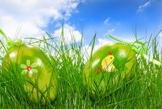Tarjeta de felicitación de Pascua Fotos de archivo
