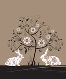 Tarjeta de felicitación de Pascua. stock de ilustración