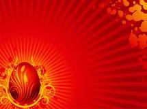 Tarjeta de felicitación de Pascua con el huevo pintado libre illustration