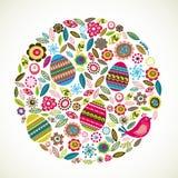 Tarjeta de felicitación de Pascua con las flores