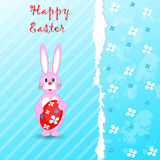 Tarjeta de felicitación de Pascua de la plantilla Fotos de archivo
