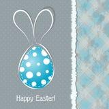 Tarjeta de felicitación de Pascua de la plantilla,  Foto de archivo libre de regalías